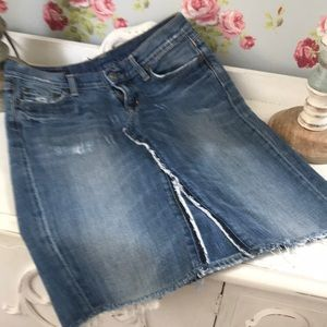 Anthro Citizens of Humanity Upcycled Jean Skirt